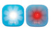 Knog Blinder 1 LED Twinpack Standard blau